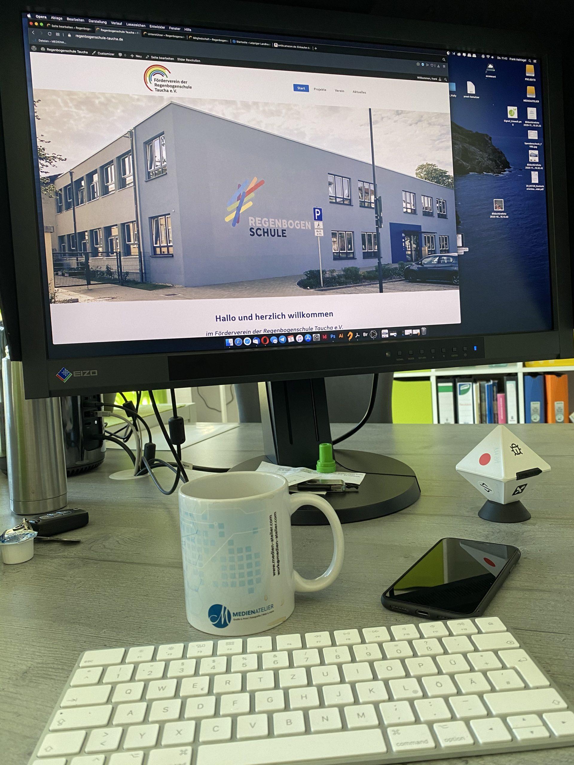 Regenbogenschule Taucha, Förderverein, Website