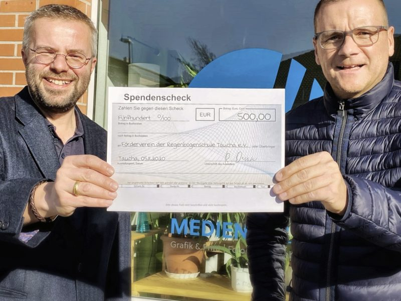 Regenbogenschule Taucha, Förderverein, Website, Spenden, Ronny Damm, DLS Damm, Taucha, Tobias D. Höhn